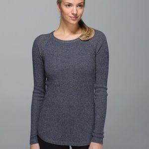 Lululemon Cabin Yogi Sweater in Heathered Grey